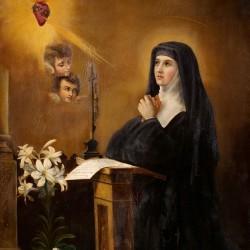 Santa margarita maria de Alacoque reza al Corazón de Jesús
