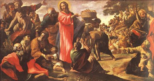 Jesús multiplica panes y peces corazon de jesus