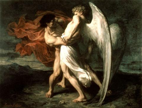 Combate espiritual entre angel y demonio