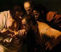 Santo Tomas mete el dedo en las Llagas de Cristo