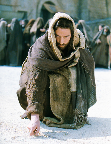 Jesús increpa el que este libre de pecado que tire la primera piedra