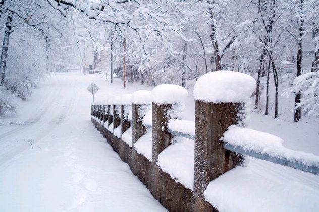 Imagen camino nevado