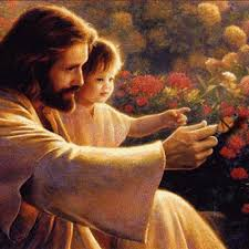 Jesús con un niño
