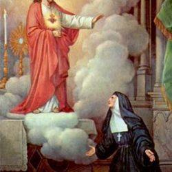 Sagrado Corazón de Jesús y santa margarita María de Alacoque
